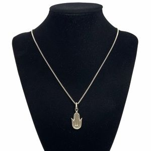 "David Yurman Hamsa Amulet Pendant Necklace 24"""